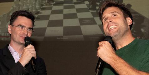 Loek van Wely and Nick Schilder. Photo: Frans Peeters